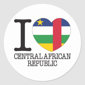 Central African Republic Love v2 Classic Round Sticker