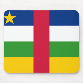 Central African Republic National World Flag Mouse Pad