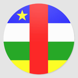 Central African Republic quality Flag Circle Sticker