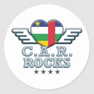 Central African Republic Rocks v2 Classic Round Sticker