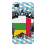 Central African Republic Star Cases For iPhone 4