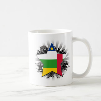 Central African Republic Star Coffee Mugs