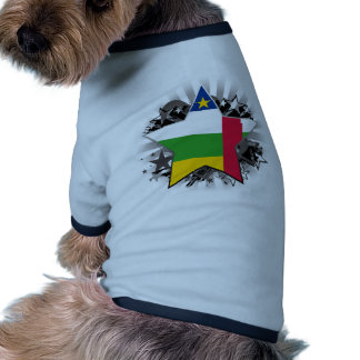 Central African Republic Star Dog T-shirt
