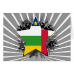 Central African Republic Star Greeting Cards