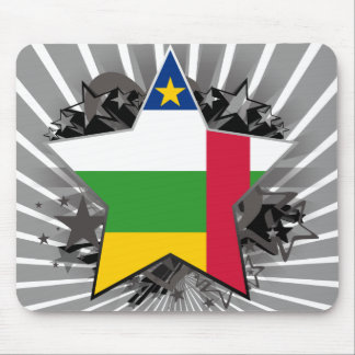Central African Republic Star Mouse Pad