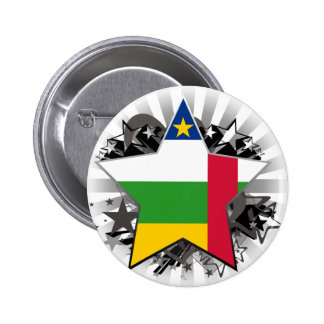 Central African Republic Star Pinback Buttons