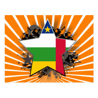 Central African Republic Star Postcard