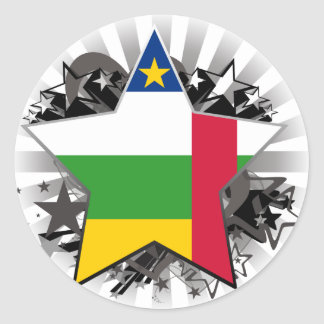 Central African Republic Star Sticker