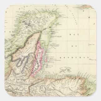 Central America 4 Square Sticker