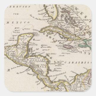 Central America 6 Square Stickers