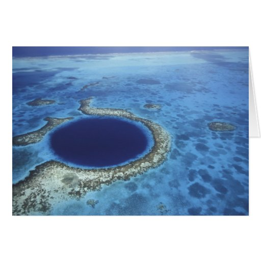 CENTRAL AMERICA, Belize, Large coral reefs off Greeting Card
