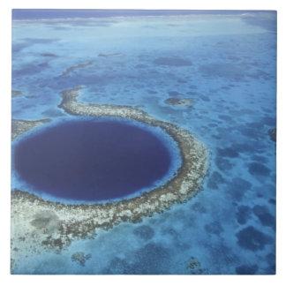 CENTRAL AMERICA, Belize, Large coral reefs off Tile