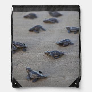 Central America, El Salvador, Pacific Ocean Drawstring Backpack