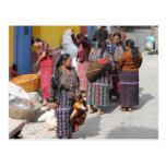 Central America Market - Guatemala Market Postcard