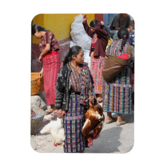 Central America Market - Guatemala Market Rectangular Photo Magnet