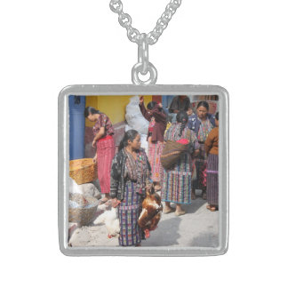 Central America Market - Guatemala Market Sterling Silver Necklace