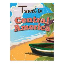 Central America vintage travel poster. Postcard