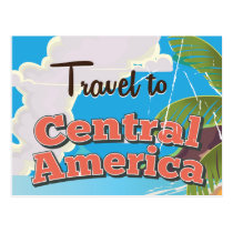 Central America vintage travel poster. Postcard