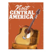 Central america vintage vacation print. postcard