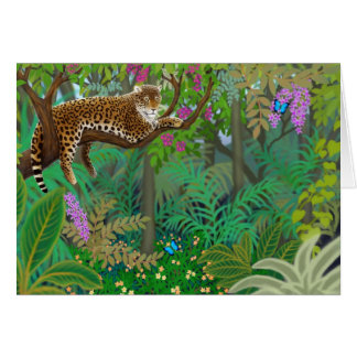 Central American Jungle Leopard Greeting Card