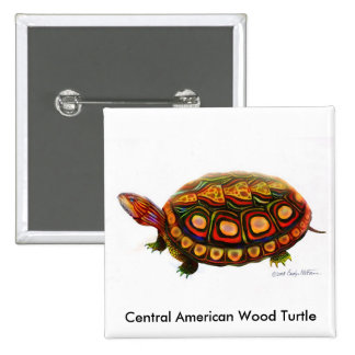 Central American Wood Turtle Pin