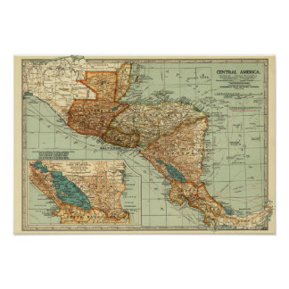 Central AmericaPanoramic MapCentral America 2 Poster