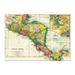 Central AmericaPanoramic MapCentral America Canvas Print