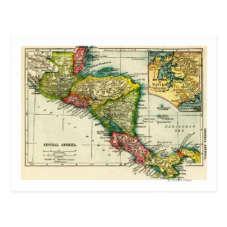 Central AmericaPanoramic MapCentral America Postcard