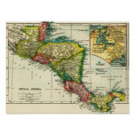 Central AmericaPanoramic MapCentral America Poster