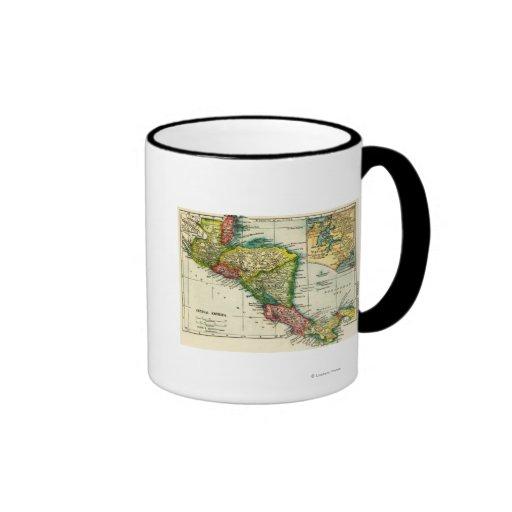 Central AmericaPanoramic MapCentral America Ringer Mug