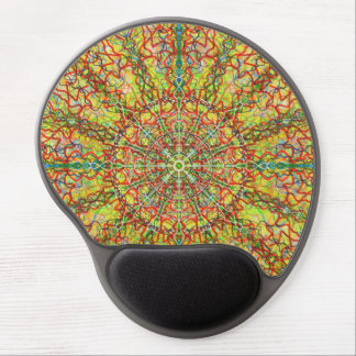 Central Architecture Mandal kaleidoscope Gel Mouse Pad