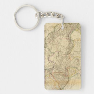 Central Asia 2 Rectangle Acrylic Key Chain