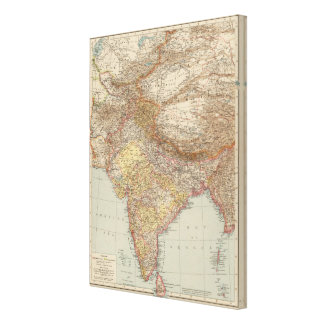 Central Asia, India Canvas Print