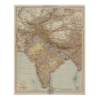 Central Asia, India Poster