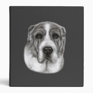 Central Asia Shepherd Dog Painting 3 Ring Binder