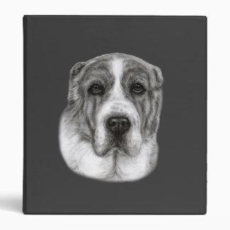 Central Asia Shepherd Dog Painting 3 Ring Binder