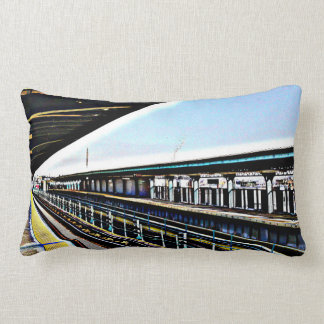 CENTRAL AVE BROOKLYN SUBWAY STOP PILLOW