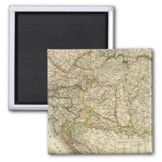 Central Balkan Peninsula Austria Hungary 2 Inch Square Magnet