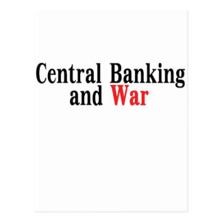 Central Banking and War Postcard