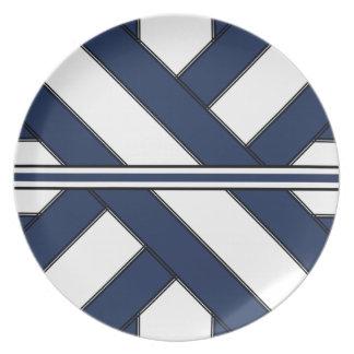 Central Blue Cross-Sash Plate