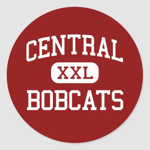 Central - Bobcats - High - Knoxville Tennessee Round Sticker