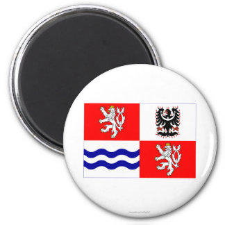 Central Bohemia Flag Fridge Magnets