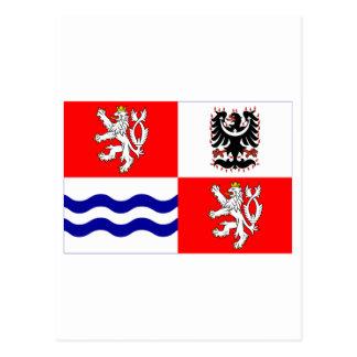 Central Bohemia Flag Postcard
