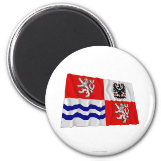 Central Bohemia Waving Flag Magnets