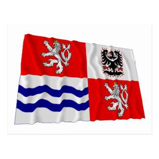 Central Bohemia Waving Flag Post Cards
