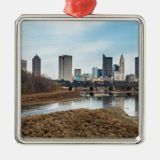 Central Business District Columbus, Ohio Metal Ornament