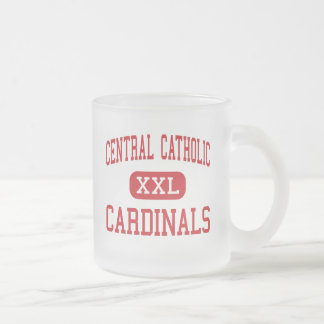 Central Catholic - Cardinals - High - Reading Frosted Glass Coffee Mug