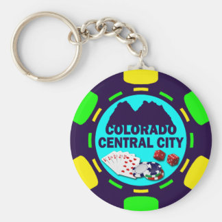 CENTRAL CITY COLORADO POKER CHIP KEYCHAIN