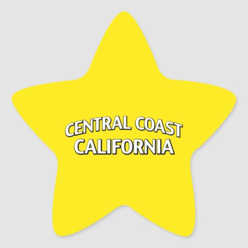 Central Coast California Star Stickers