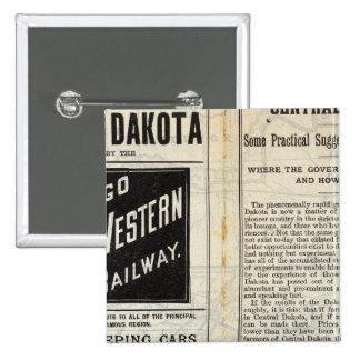 Central Dakota Pinback Button